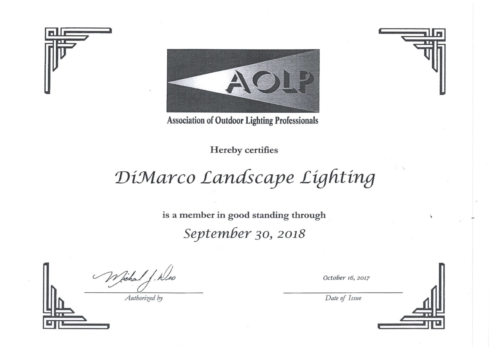 home dimarco landscape lighting